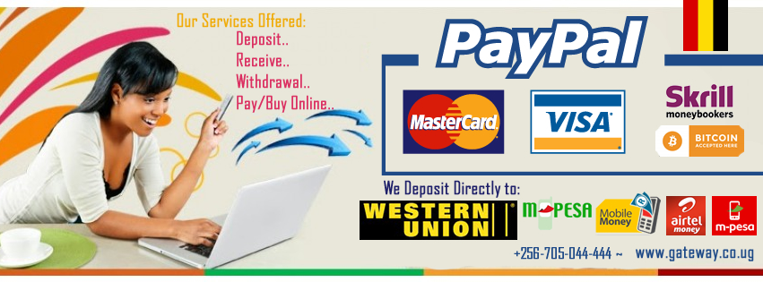 Paypal withdraw Uganda East Africa